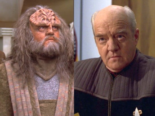 Richard Hard in Star Trek - The Next Generation, left,