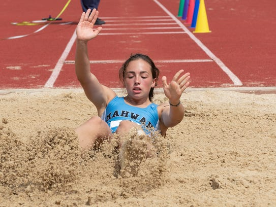 Mahwah's Lauren Stern competes in the triple jump during