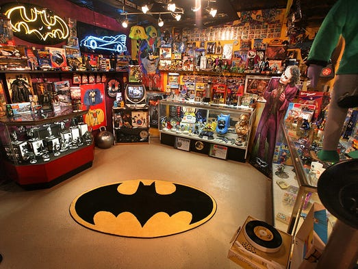 This 2011 photo shows a fraction of the Batman memorabilia