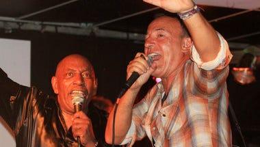 JT Bowen and Bruce Springsteen at the Wonder Bar.