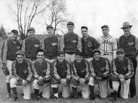 Barney Joecks is standing far right in this 1947 Lannon