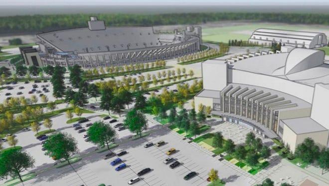Rendering of capital improvements for Indiana University athletics