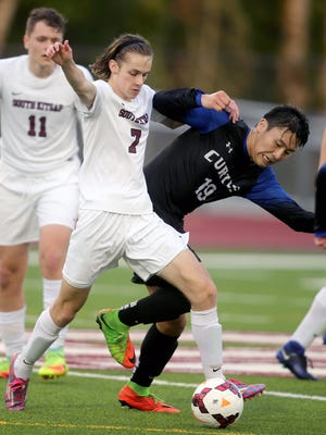 South Kitsap soccer player Grant Larson finished the regular season with a team-high 14 goals and six assists. The Wolves play Camas in a district playoff game Thursday.