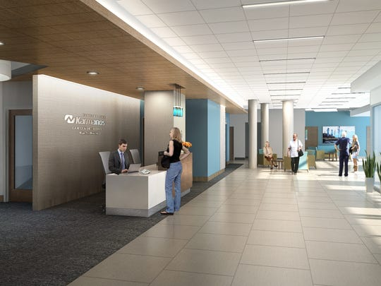 A rendering of the future Karmanos Cancer Institute