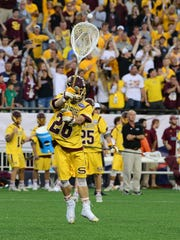 Salisbury University celebrates after winning the NCAA Division III Lacrosse National Championships at Gillette Stadium in Foxoborough, MA. on Sunday, May 28, 2017.