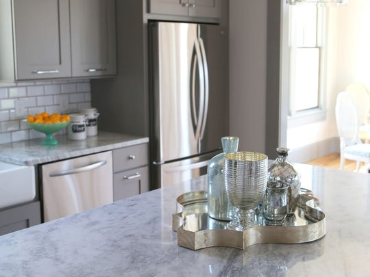 4. Polished or satin nickel hardware and fixtures.