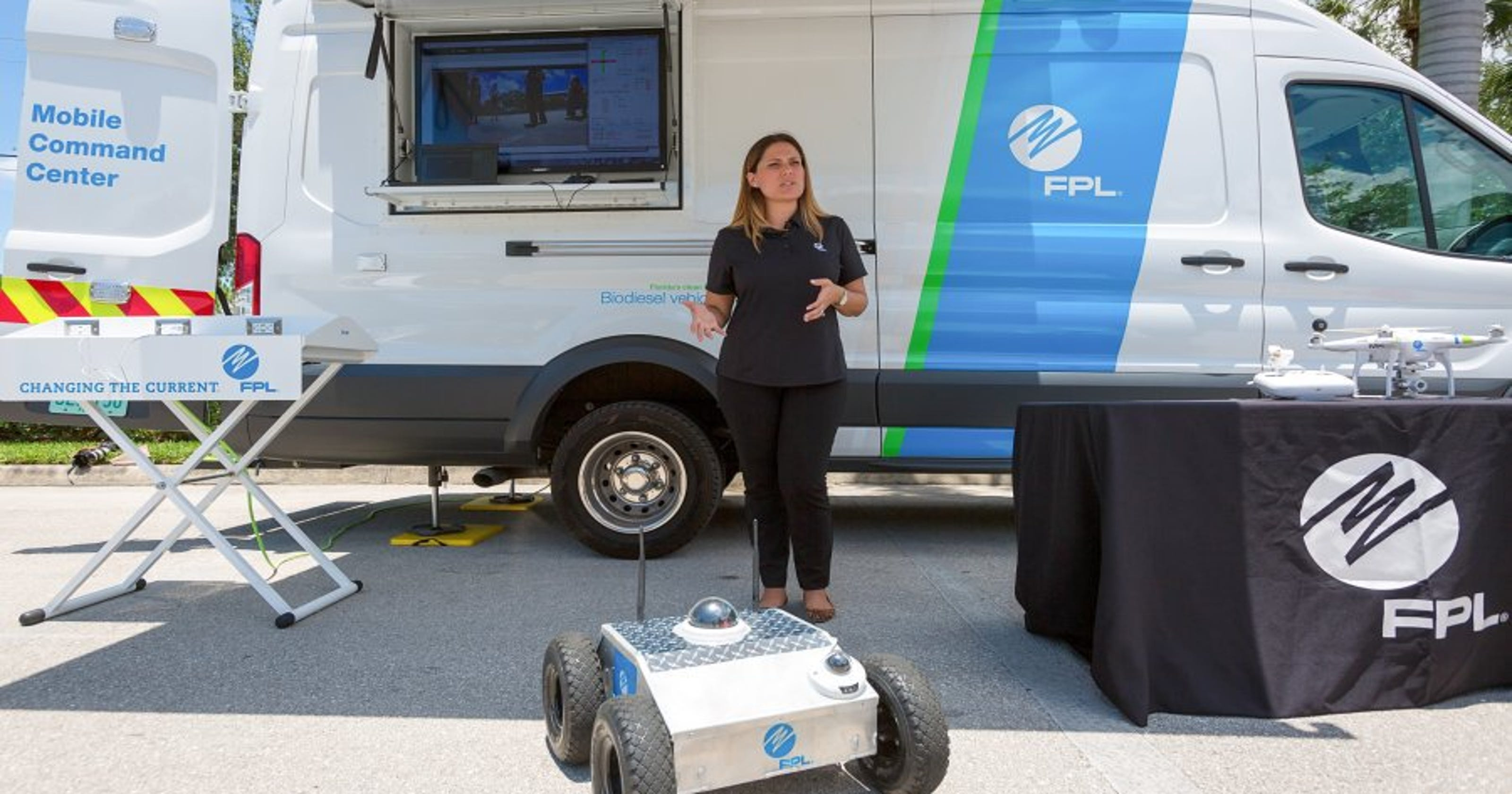 FPL shows off drone, robot technology