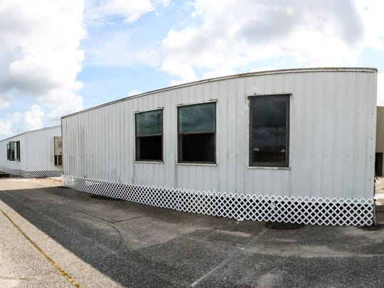 Lehigh Senior High School has added these four new portables to its campus to deal with increased enrollment.