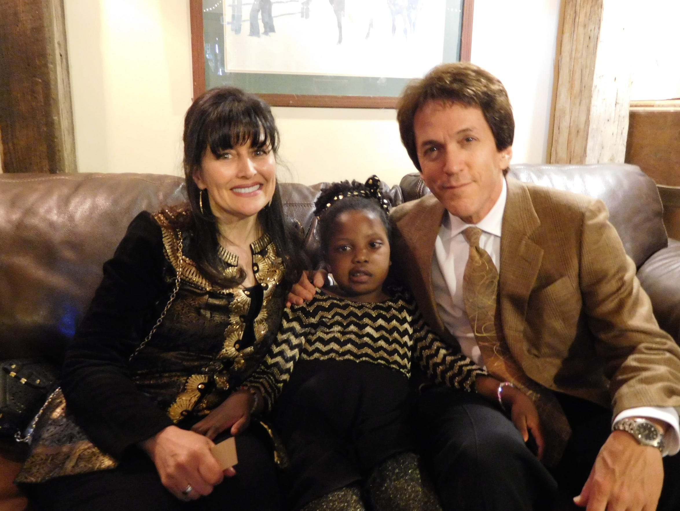 Janine, from left, Chika and Mitch during a family