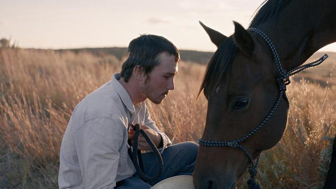 "Real-life cowboy Brady Jandreau stars in ""The Rider."""