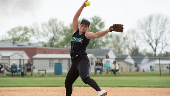 Parkside's Maggie Cannon, delivers a pitch during a