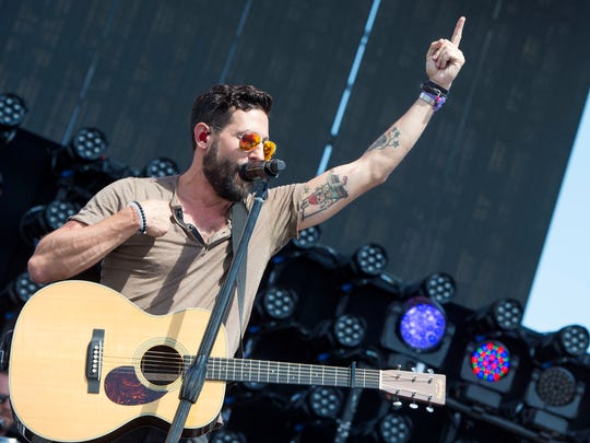 Matthew Ramsey of Old Dominion performs at Stagecoach in Indio, California, on May 1, 2016. The band has already sold out its Bottle & Cork show in Dewey Beach June 24.