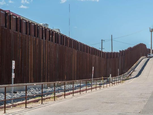 Border fence separating Mexico and the United States