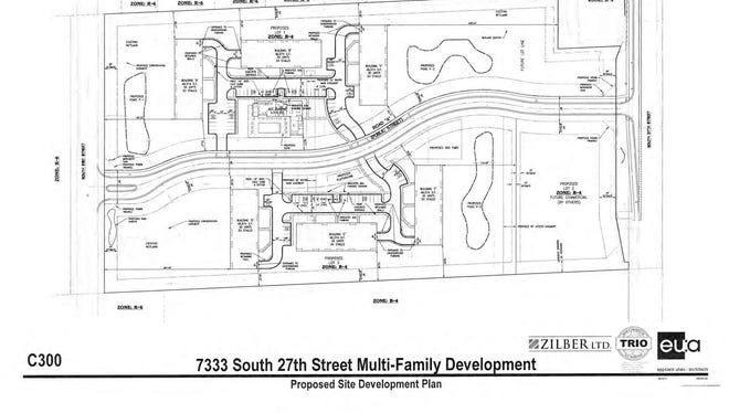 A proposed residential development at 7333 S. 27th St. in Franklin.