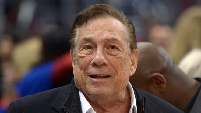 Los Angeles Clippers owner Donald Sterling attends the game against the Los Angeles Lakers at Staples Center on Jan. 10, 2014.
