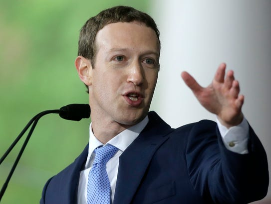 File photo taken in 2017 shows Facebook co-founder