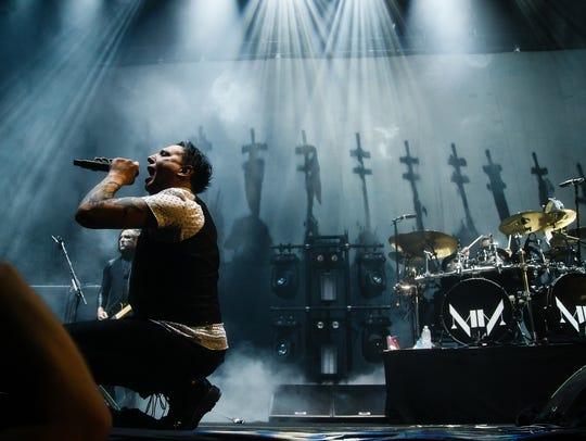 Marilyn Manson opens for Slipknot at Wells Fargo Arena