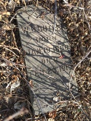 This is one of the few grave markers that can be read: