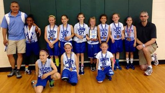 The WNC Lady Royals third grade basketball team.
