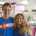 Lisa Paugh runs Walrus Ice Cream with the help of her son, Jonathan.  The shop, founded in 1987, serves ice cream in a variety of flavors made at their location on W. Mountain Ave.