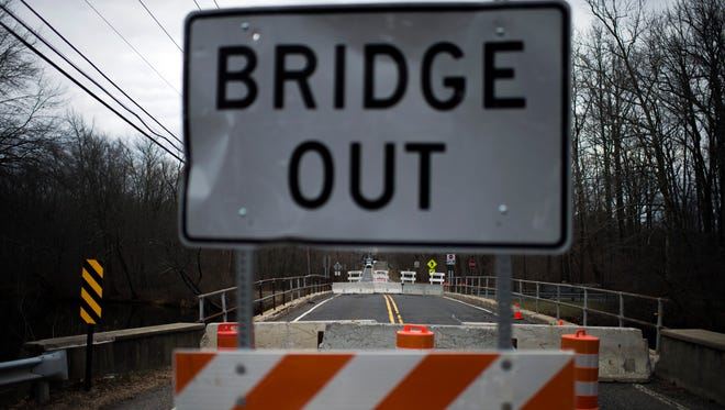 The bridge over Rancocas Creek adjacent to two major Burlington County park complexes in Smithville has been closed as an emergency measure.