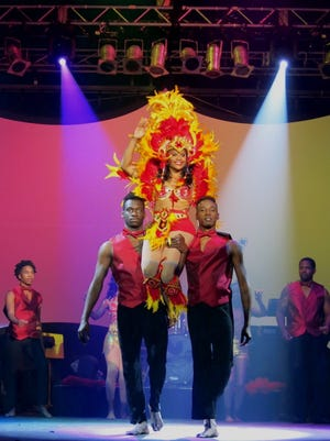 Krewe Harambee Queen XVII Terry Jackson makes her appearance at Saada Maskhara Bal.