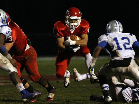 Manalapan tailback Imamu Mayfield will be looking for another big game Friday night when the Braves play at Red Bank Catholic