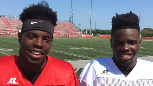 St. Georges grads Keyjuan (left) and Taronn Selby are poised for big seasons as Delaware State juniors.
