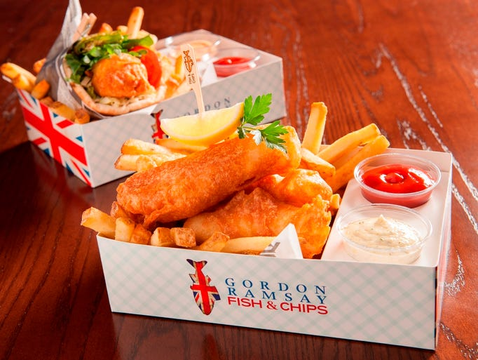 Gordon ramsay fish chips opens in las vegas for Alaskan cuisine traditional