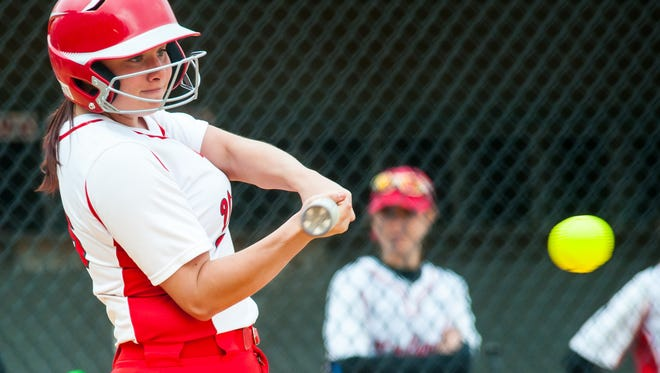 Vineland shortstop Alyse Jackson collected career hit No. 100 on Saturday.