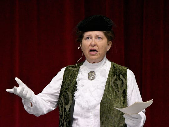 Susan Kahrl performs a one-woman show on Tuesday, portraying