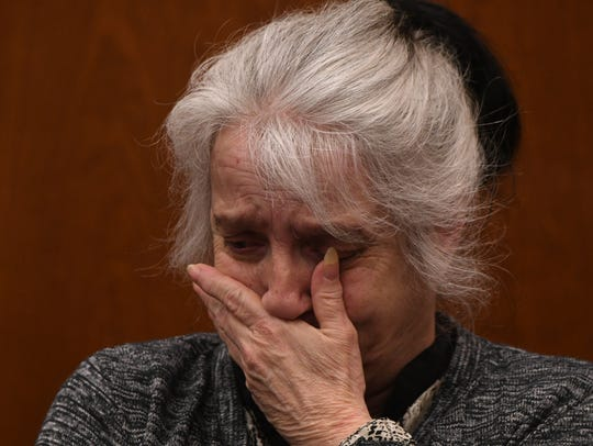 Linda Buckner testifies Nov. 29 at her murder trial.