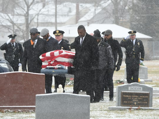 """The funeral for former Mansfield Police Chief Lawrence Edward """"Bunker"""" Harper was held Jan. 4, 2017, at Oasis of Love Church followed by a full military honors burial at Mansfield Cemetery."""