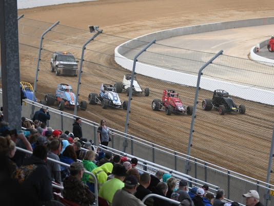 Opening night at Mansfield Motor Speedway