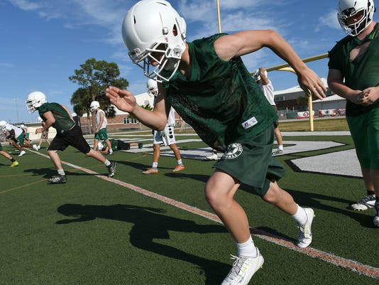 High School Football: Melbourne HIgh Spring Practice