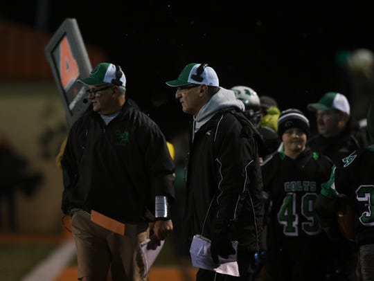 Dave Carroll is the Division IV Coach of the Year for leading Clear Fork to its first unbeaten regular season in 50 years and its first 11-win season.