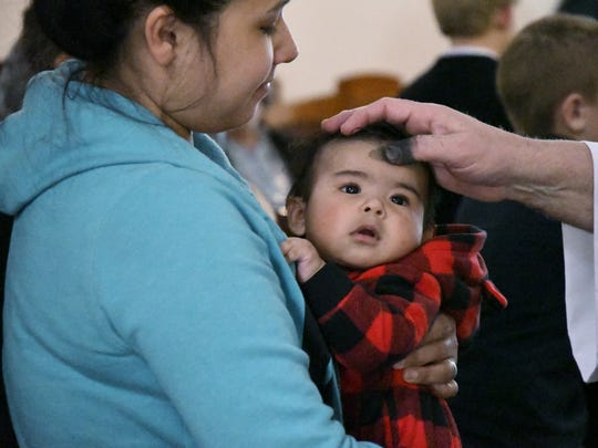 Central Valley residents attend Ash Wednesday Mass