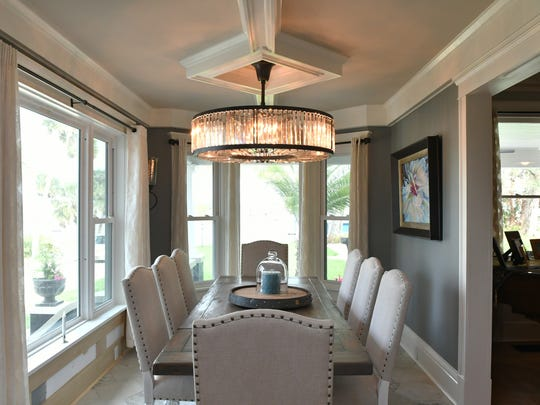 The dining room. 709 Rockledge Drive, located along the Indian River, will be part of the March 17, 2018 Historic Homes & Garden Tour by the Cocoa Rockledge Garden Club.
