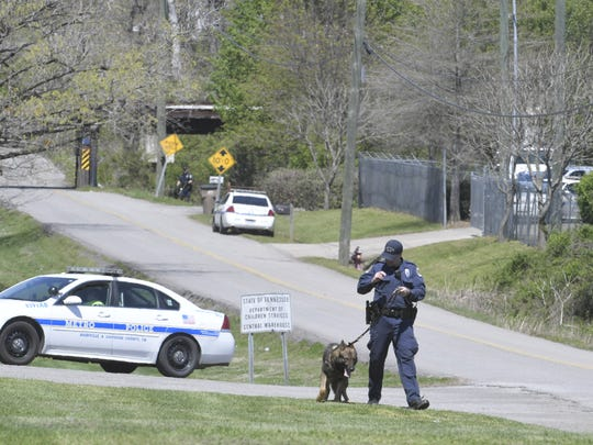Metro Nashville police on scene of a riot and escape at the Gateway to Independence youth detention center Monday, April 9, 2018. A 17-year-old escaped and was promptly captured after a riot at the facility.