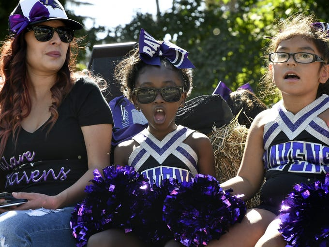 Hundreds of Tulare County families lined the streets