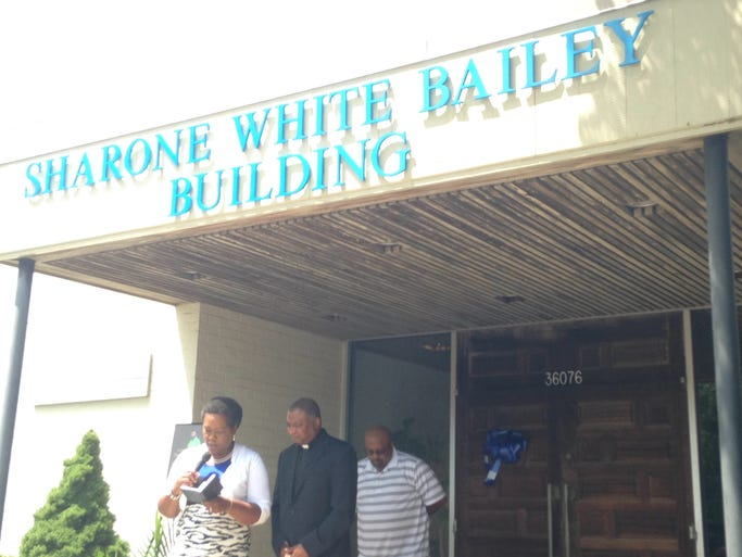 The building at 36086 Lankford Hwy. Belle Haven was renamed the Sharone White Bailey Building in a dedication ceremony Saturday, Aug. 16, 2014.