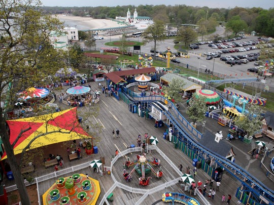 A view of Playland from the Ferris wheel on May 10,