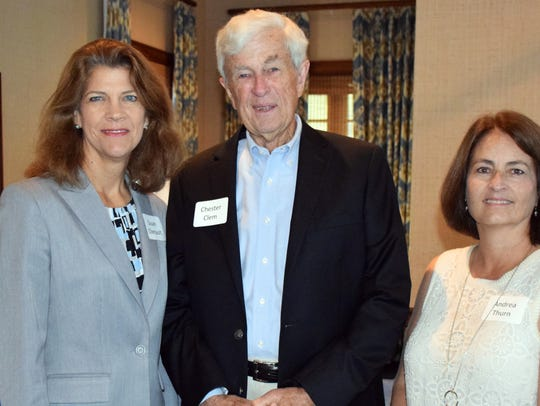Susan Chenault, Chester Clem and Andrea Thurn at the