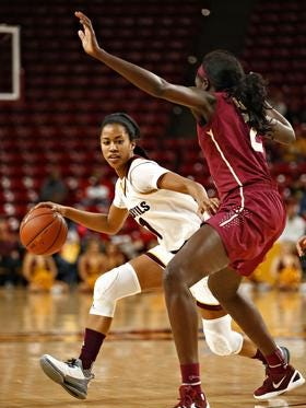 Senior guard Arnecia Hawkins has scored 40 points in the last games for No. 22 ASU women's basketball.