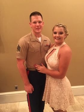 Connor and Natalie Koveck are in the running for a military wedding giveaway.