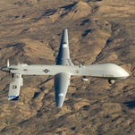 The Predator MQ-1 in flight over Southern California in 2012.