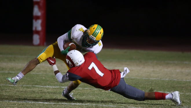Early action between Coachella Valley and Desert Mirage on Friday night.