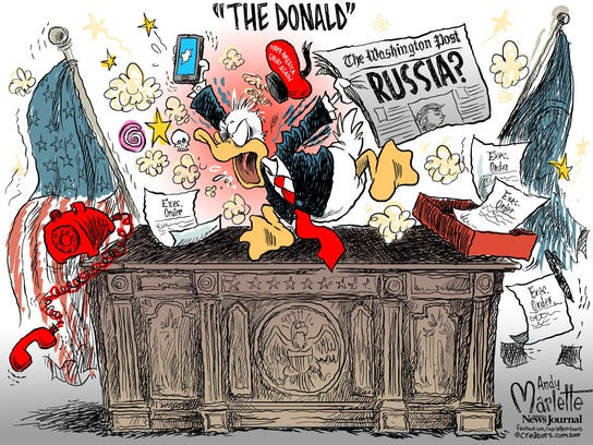 Political cartoon by Andy Marlette