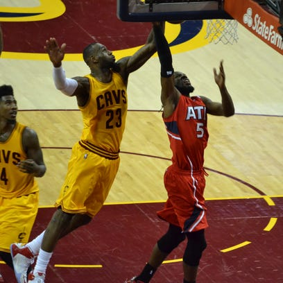 LeBron James and the Cleveland Cavaliers swept the