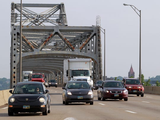 The Brent Spence Bridge over the Ohio River has been designated functionally obsolete.